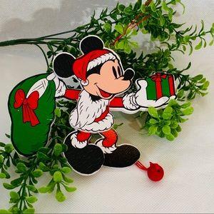 Disney vintage Santa Mickey mouse puppet ornament
